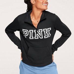 PINK Victoria's Secret Logo Lounge Quarter Zip